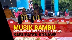 Musik Bambu Meriahkan Upacara HUT ke-60 Kabupaten Konawe